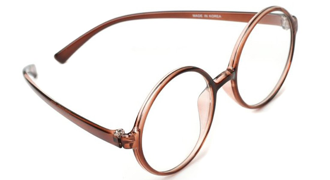 73ebbba3c2d Amazon.com  Large 360 Big Round Oversized Reading Glasses Flexible Frame  ALL Strength Free Hard Case (+1.00