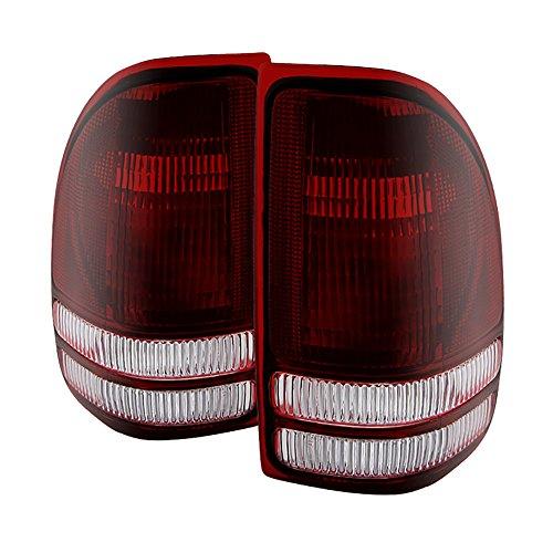 VIPMOTOZ Factory Style Tail Light Lamp For 1997-2004 Dodge Dakota - Smoke Red Lens, Driver & Passenger (Dodge Dakota Parking Light)