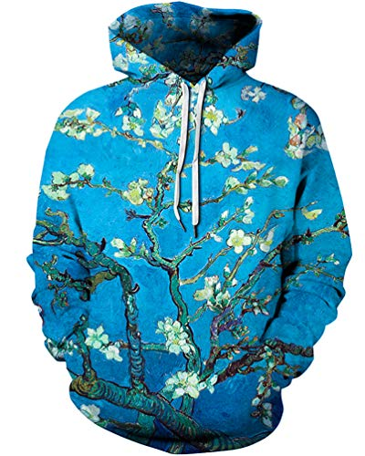 Unisex 3D Novelty Hoodies Graphic Patterns Print Galaxy Hoodies Pullover Sweatshirt Pockets (For Christmas Jumpers Novelty Sale)