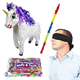 Pinatas Fairytale Unicorn Kit Including, Buster Stick, Bandana And 2 lbs. Candy Filler