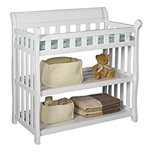 Premium Changing Table Baby Furniture For Diaper Change In Delta Modern White Solid
