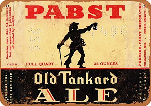 Wall-Color 9 x 12 Metal Sign - Pabst Old Tankard Ale for sale  Delivered anywhere in USA
