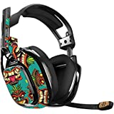 MightySkins Skin For Astro A40 Gaming Headset - Crazy Tikis | Protective, Durable, and Unique Vinyl Decal wrap cover | Easy To Apply, Remove, and Change Styles | Made in the USA