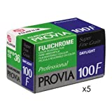 Fujifilm Fujichrome Provia 100F Color Slide Film ISO 100, 35mm, 5 Rolls of 36 Exposures