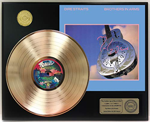 Dire Straits Brothers In Arms Gold Lp Ltd Reproduction Signature Record Display C3