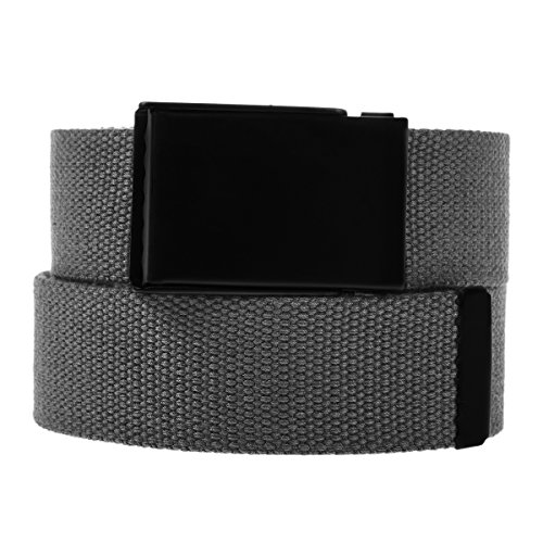 DG Hill Casual Canvas Web Belt For Men Military Style Tactical Flip Top Buckle - Casual Canvas Belt