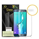 Galaxy S6 Edge Screen Protector, Akpati Full Coverage 3D Curved Tempered Glass Clear Anti-Bubble Film [Full Coverage][Case Friendly][Anti-Scratch] for Samsung Galaxy S6 Edge - Translucent