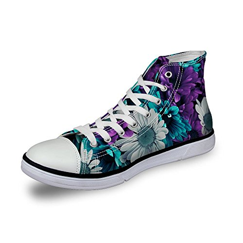 U DESIGNS Women Green Top Sneaker For FOR Ethnic Fashion High 8 US Floral Shoes d4qA5x