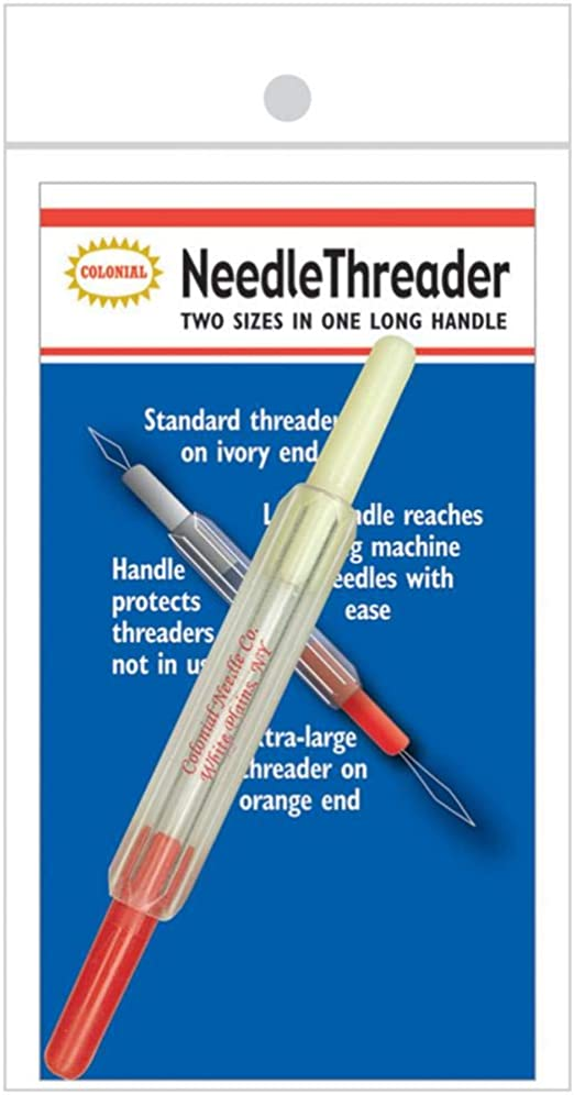 Needle Threader twin pack large thin black handle