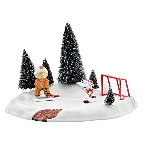 Department 56 Peanuts Village Snoopy Shoots Animated Skating Accessory, 5.71 inch