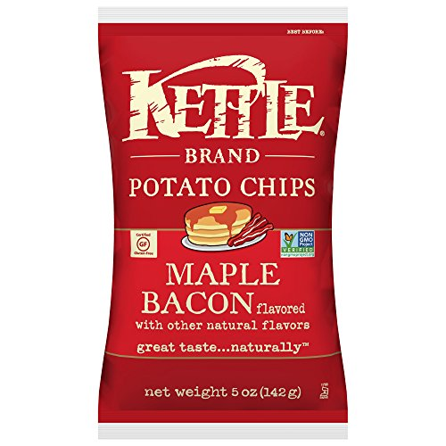 Kettle Brand Potato Chips, Maple Bacon, 5 Ounce Bags (Pack of 8)