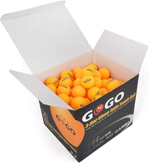 GOGO 3 estrellas 40 mm pelotas de tenis de mesa sin costuras ...