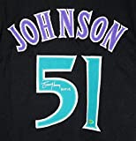 Randy Johnson Arizona Diamondbacks Signed Autographed Black #51 Custom Jersey