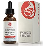 Rosehip Oil Red Marks Organic Rosehip Oil - Cold Pressed, Natural & Unrefined - Certified USDA Virgin Rose Hip Seed Oil. Best Moisturizer for Hair, Skin, Face, Nails - Essential Wrinkles, Fine Lines & Scars - 2oz