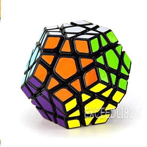 FidgetGear Magic Dodecahedron Megaminx Magic Cube Speed Puzzle Toy Game Gift Black from FidgetGear