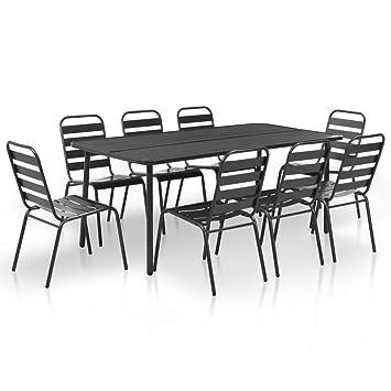 Tidyard Meuble D Exterieur En Lattes 9 Pcs 1 Table 8