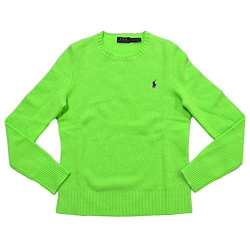 men's Wool Cashmere Crew-Neck Sweater (XS, Green) ()