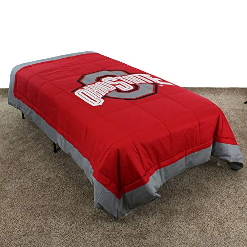 College Covers Ohio State Buckeyes Comforter Only Queen Team Color ()