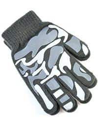 Octave Boys Camoflague Design Magic Gripper Gloves - Gray