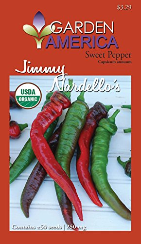 Garden America CAP-1038 Organic Jimmy Nardello's Italian Frying Sweet Pepper Seed (Long Italian Pepper Seeds compare prices)