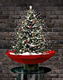 """Jumbl 29"""" Led Lighted Musical Snowing Christmas Tree with Umbrella Base and 25 Songs"""