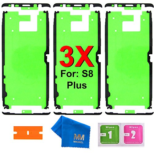 MMOBIEL 3X Pre-Cut Adhesive Glue Tape Sticker Compatible with Samsung Galaxy S8 / S8 Plus Front Housing LCD Bezel Frame ()
