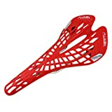 YD04 Hollow Carbon Fiber MTB Road Mountain Bicycle Cycling Saddle Seat Cushion Red