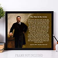 The Man in the Arena - Theodore Roosevelt - 11x14 Unframed Art Print - Makes a Great Gift Under $20 for History Buffs