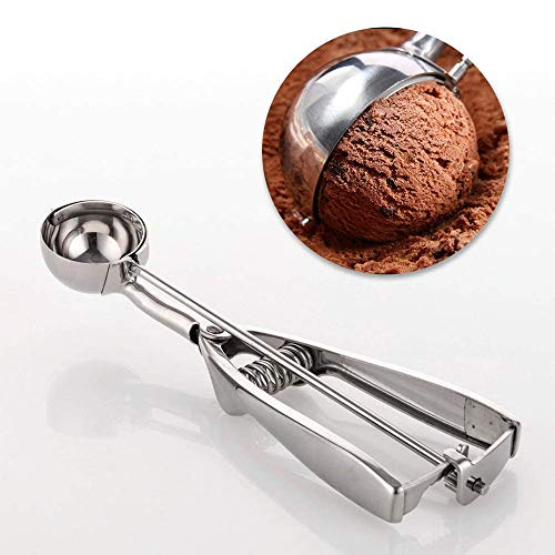 Cookie scoops for baking set of 3, Stainless Steel Ice Cream Scoop Trigger,small size (1.58 inch), medium size (1.97 inch) disher scoop set, large size (2.37 inch),cookie scoop set,cream scoop