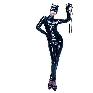 XSQR Catwoman Disfraz De Mono De Cuero con para Mujer Halloween ...