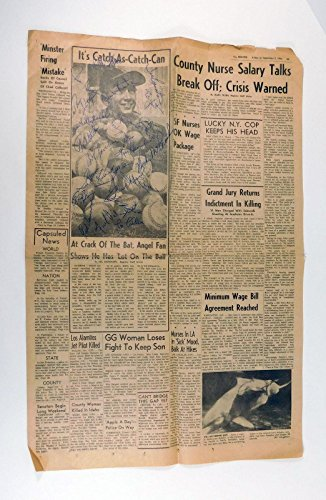 Gil Hodges + 20 Others Signed Newspaper 1966 21 Autos - MLB Autographed Miscellaneous Items