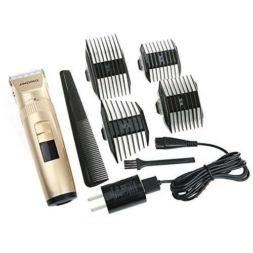 Ladyker Electric Hair Clipper Rechargeable Cordless Mustache Beard Trimmer Grooming Kit Hair Cutting Kit with 4 Combs for Adults and Kids(Golden)