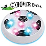 Ouwen Air Power Football, Novelty LED Flashing Air Power Soccer Ball Toys for 3-12 Year Old Boys Gifts for 3-12 Year Old Boys Gifts for 3-12 Year Old Girls White(No Gates) OWUKSC01