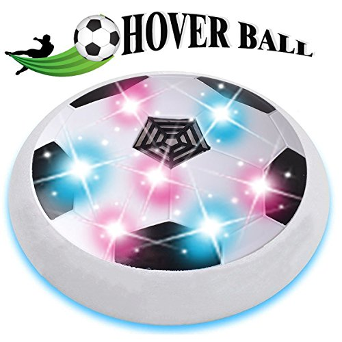 DIMY Hover Ball for Kids, Hover Football Indoor Toys for 2-8 Year Old Boys Girl Gifts Age 3-8 Year Old Boy Toys White (Rotary Four Way Test)