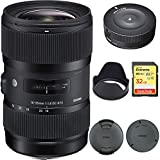 Sigma AF 18-35MM F/1.8 DC HSM Lens for Sony (210-205) with Sigma USB Dock for Sony Lens & Sandisk 32GB Extreme SD Memory UHS-I Card