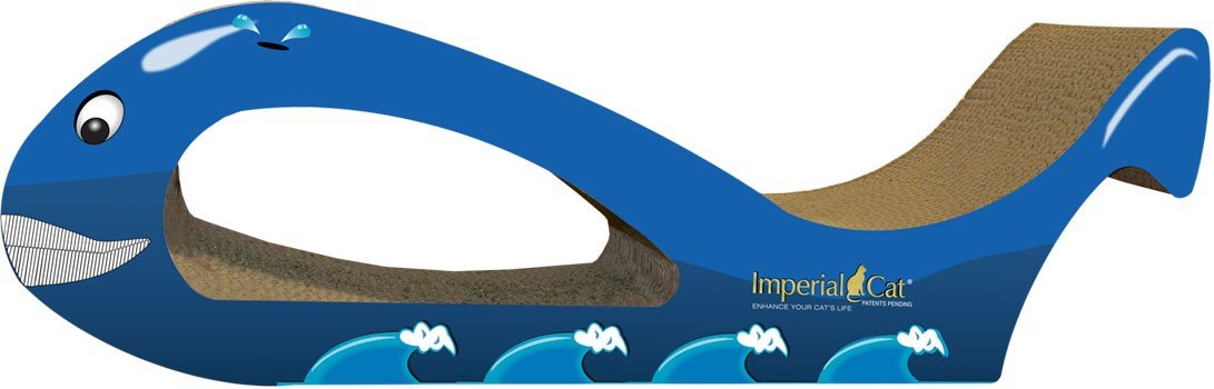 Imperial Cat Giant Whale Scratch and Shape, Blue
