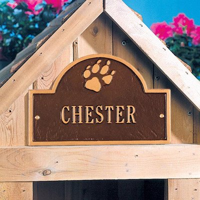 5014 - Personalized One Line Pet Paw Mini Arch Wall Marker