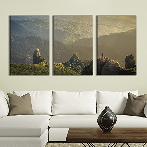 3 Panel Majestic Natural Landscape Triptych Series Grand Valley Peak x 3 Panels