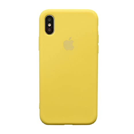 coque iphone xs jaune fluo