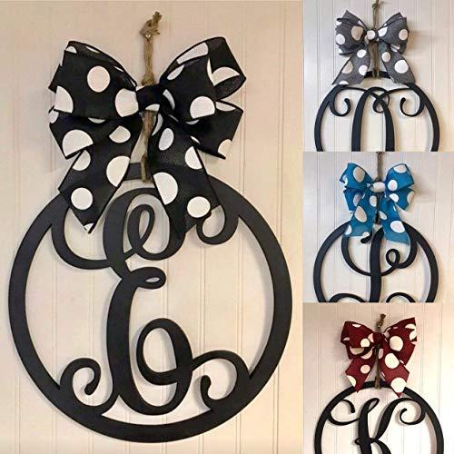 Wood Monogram Circle Door Hanger 15