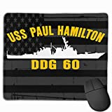 USS Paul Hamilton DDG 60 and American Flag Mouse Pads Non-Slip Gaming Mouse Pad Mousepad