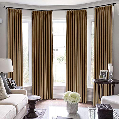 Drapifytex Jave Curtain Blackout Panel Window Drape, Pinch Pleated Room Darkening Curtain for Bedroom Livingroom, 84