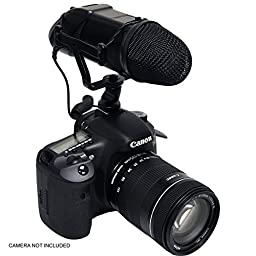 Samsung NX30 Professional Microphone (Stereo/NRS) With Dead Cat Wind Muff For High End Systems (DSLR And Video)