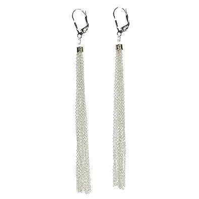 Sterling Silver Tassel Earrings fp5I7PT8hT