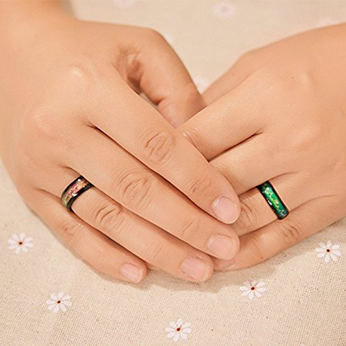Amazon.com: Fashion Titanium Black Mood Rings - Emotion Feeling Engagement Rings for Women and Men -Jewelry Promise Rings for Couples - Colorful Lovely ...