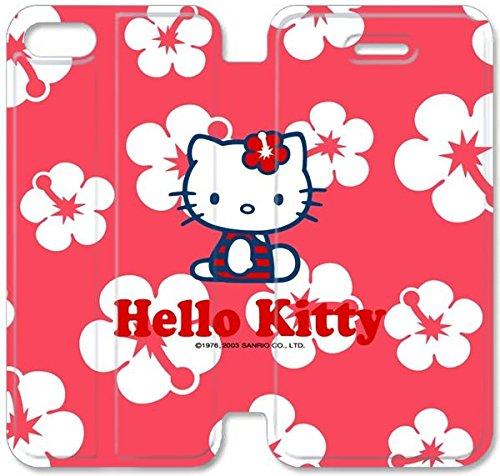 Coque iPhone 5C Coque Cuir, Klreng Walatina® PU Cuir de portefeuille de couverture Coque pour Coque iPhone 5C Design By Bonjour Kitty Sony Xperia Z F8K5Un