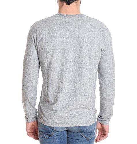 Franklin & Marshall Herren TSMCA228XNW16SPORTGREY Grau Baumwolle T-Shirt