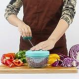Lekoch Manual Food Chopper Mini Hand Pull Food Processor for Fruit Vegetable Meat - Portable Mini Blender for Baby Feeding