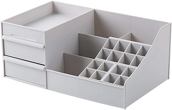 Organizadores de maquillaje Organizador de maquillaje de plástico Cajones de oficina Caja de almacenamiento Caja de joyería Caja de maquillaje Caja de cosméticos Caja de almacenamiento de lápiz labial: Amazon.es: Hogar