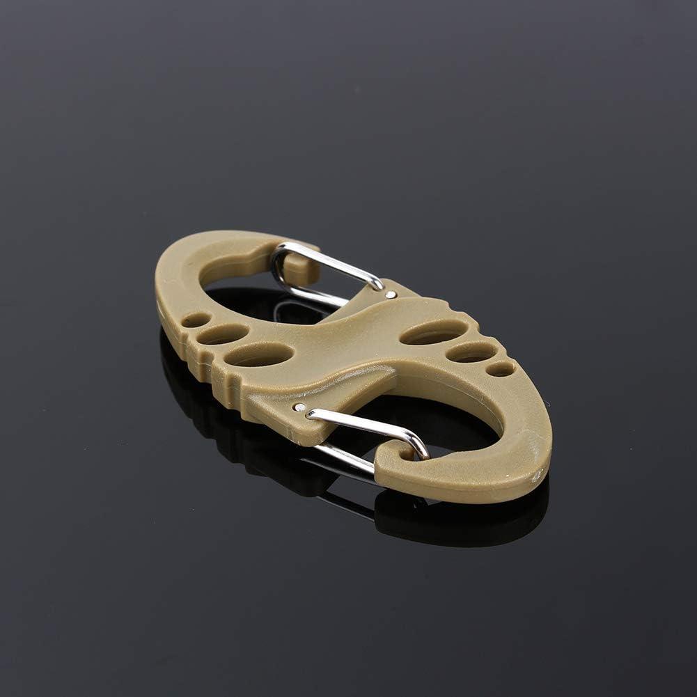 Dual Buckle Keychain Mini Carabiner Buckle for Keychain Camping Hiking /& Utility S Type Carabiner Hammocks Swing